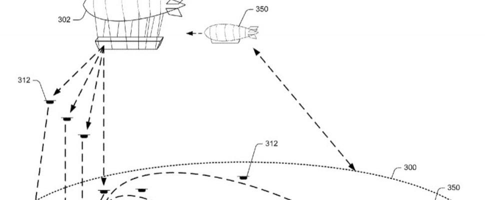Amazon patenteert 'vliegend magazijn' in vorm van zeppelin