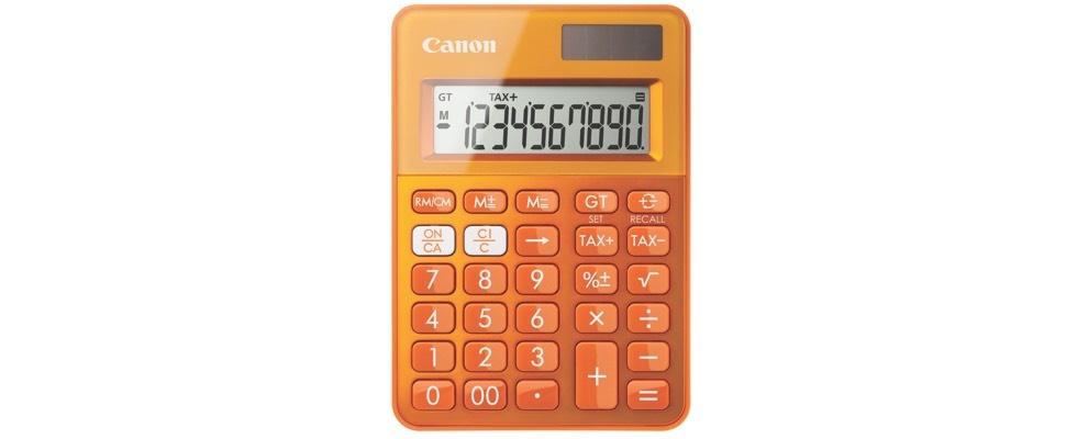 Canon maakt calculators van gerecyclede onderdelen