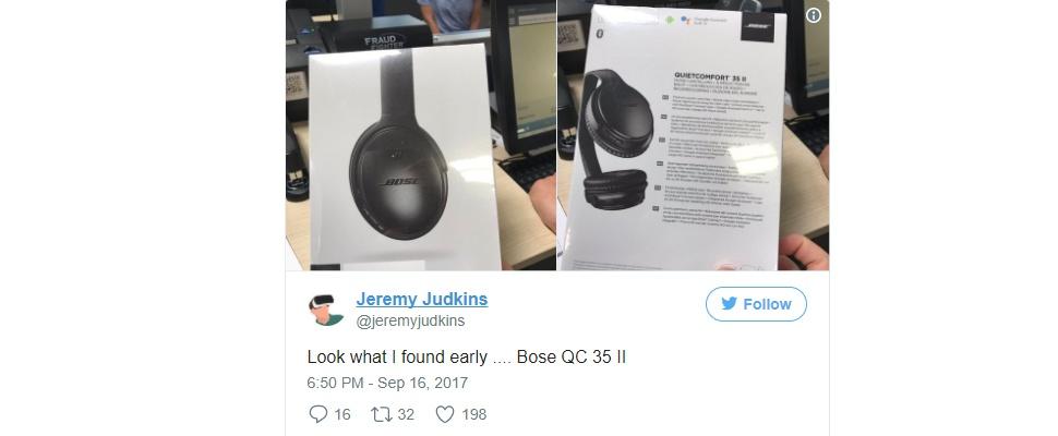 'Bose QuietComfort 35 II bezit ingebouwde Google Assistent'