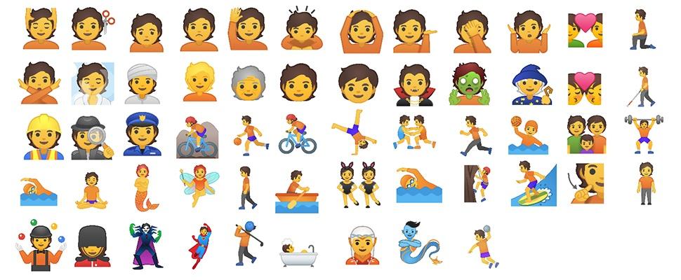 Google brengt genderneutrale emoji naar Android Q