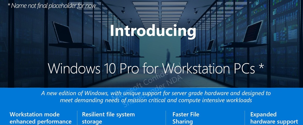 Windows 10 Pro for Advanced PCs duikt op