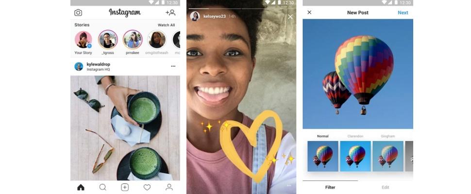 Facebook lanceert Lite-versie Instagram