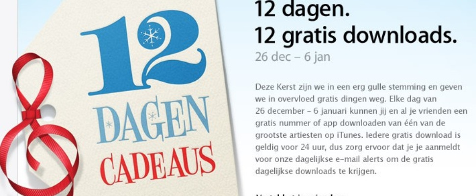 Apple deelt gratis downloads uit
