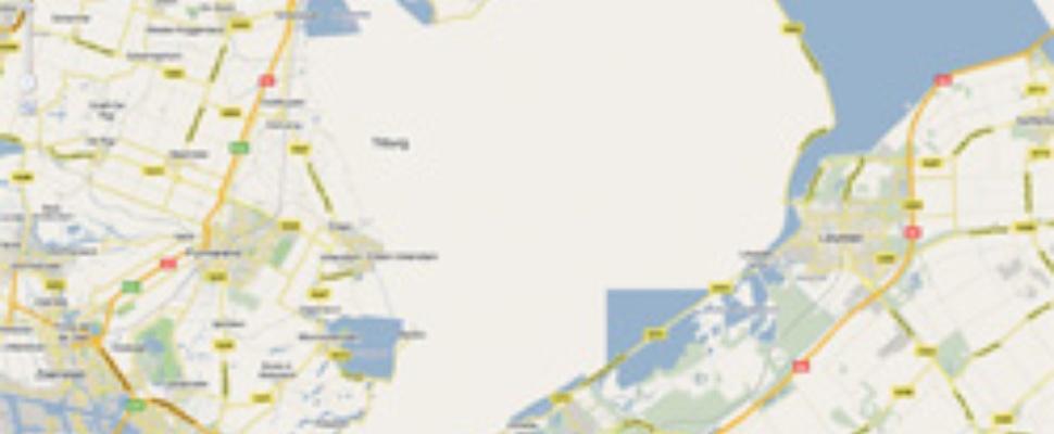 Markermeer gedempt volgens Google Maps