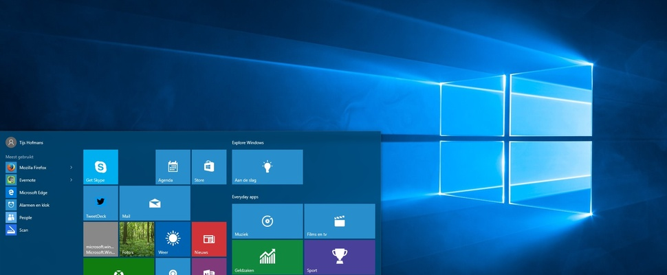 Review Windows 10: Het startmenu