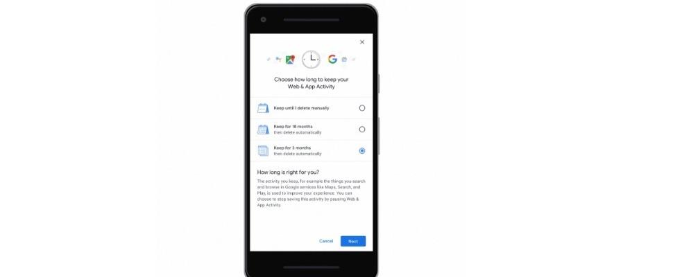 Opgeslagen geschiedenis in Google makkelijker te wissen