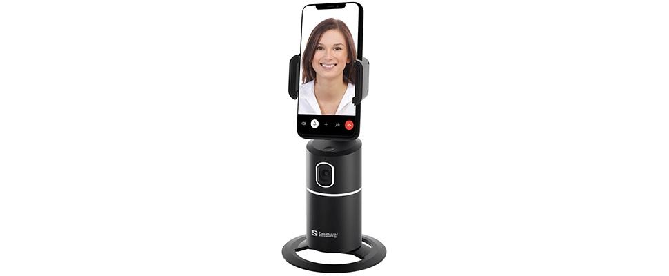 Altijd in beeld met Motion Tracking Phone Mount van Sandberg