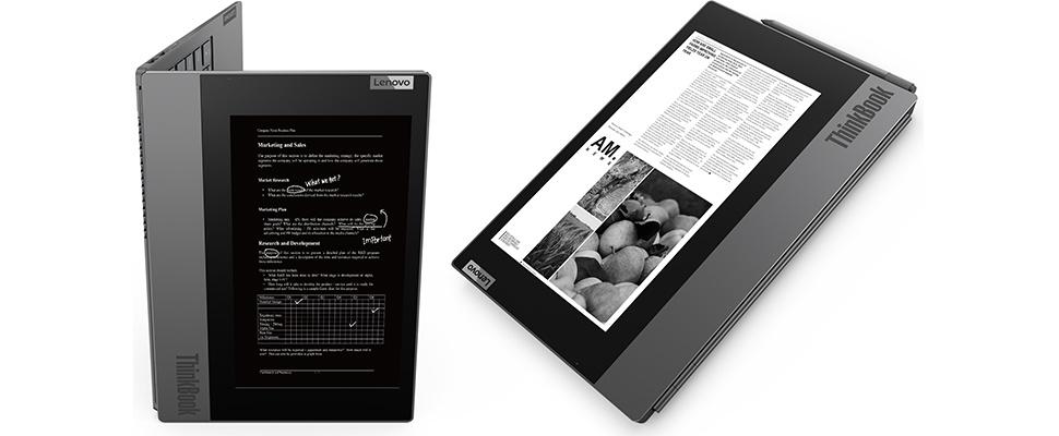 Lenovo ThinkBook Plus-laptop heeft extra scherm achterop