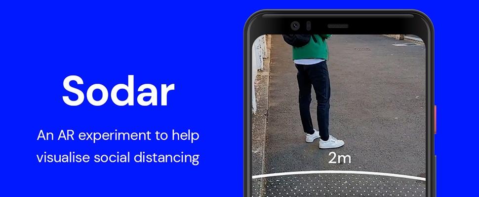 Hulp bij anderhalve meter afstand met Google Sodar AR-app
