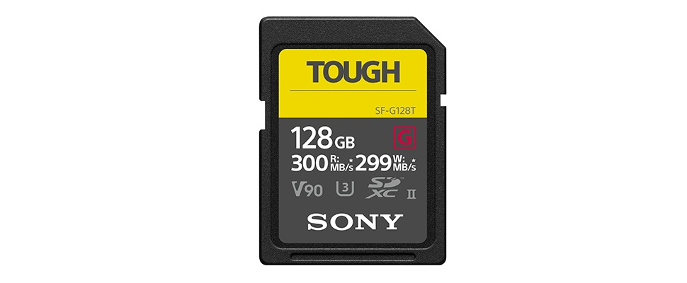 Sd-kaartjes Sony kunnen tegen stootje