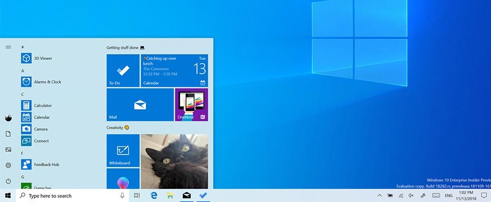 Windows 10: Licht thema op de schop