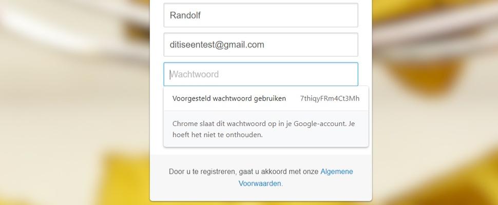 Automatisch veilige wachtwoorden aanmaken in Chrome