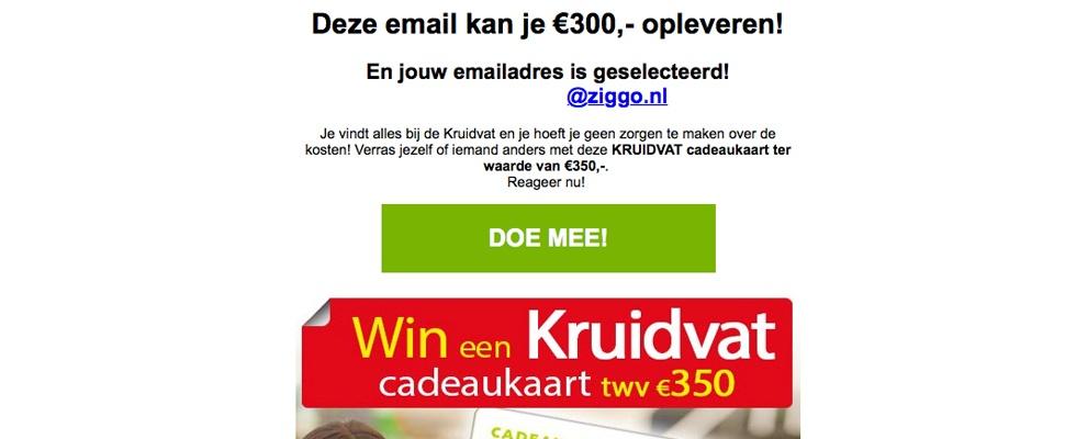 Trap er niet in: phishingmails beloven Kruidvat-cadeaukaarten
