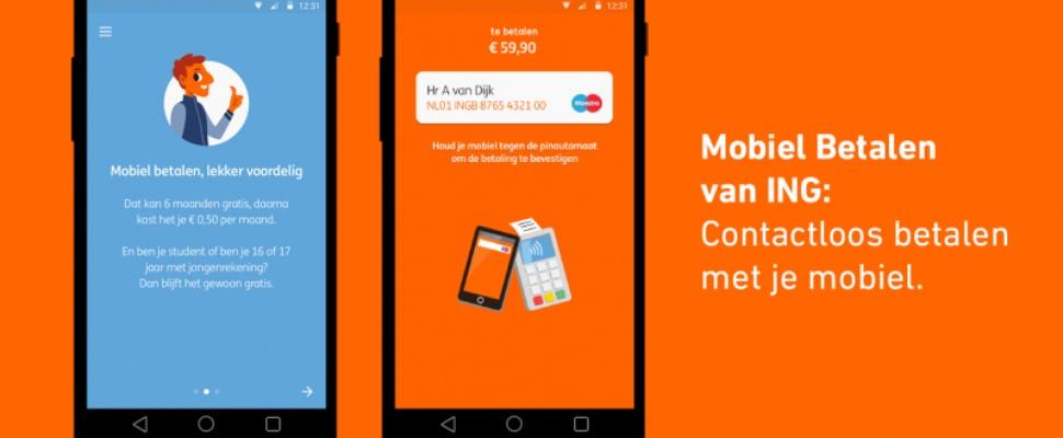 ING maakt Mobiel Betalen gratis, ABN Amro-klanten gaan juist betalen