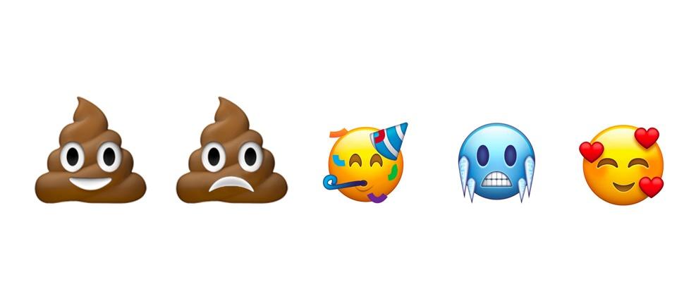 Bedroefde drol-emoji in de race voor 2018