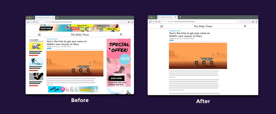 Advertenties afkopen met Better Web-abonnement voor Firefox
