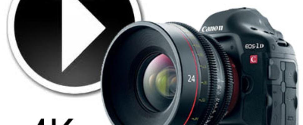 Canon EOS-1D C schiet 4K video