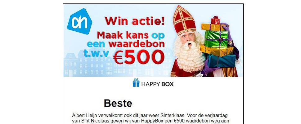Phishingmail van Sinterklaas in omloop