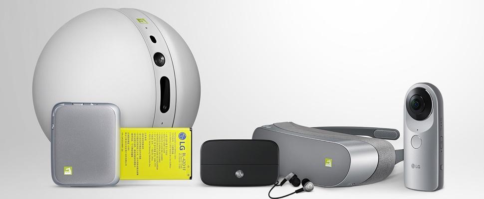 LG onthult vr-bril, rollende robot en meer voor G5