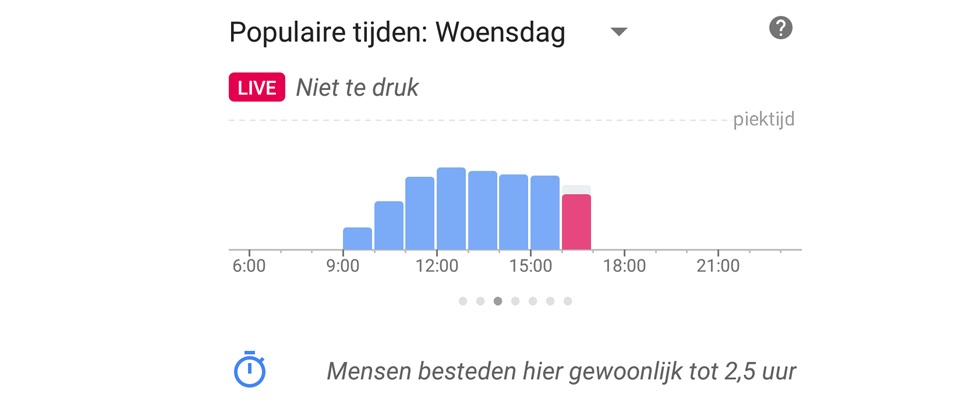 Google Maps weet live hoe druk het is
