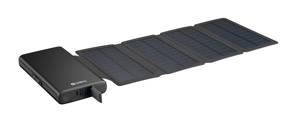 Zoek de zon op met Sandberg's Solar 4-panel Powerbank 25000