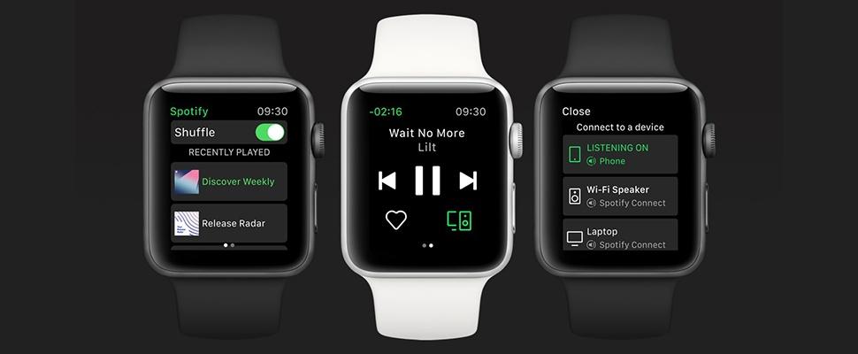 Spotify nu ook uit voor Apple Watch
