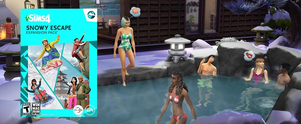 De Sims gaan wel gewoon op wintersport