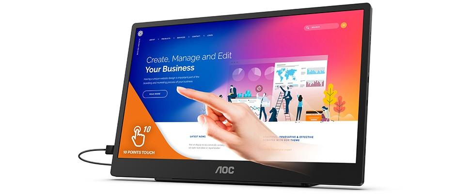 AOC 16T2: Mobiele monitor laadt smartphone op