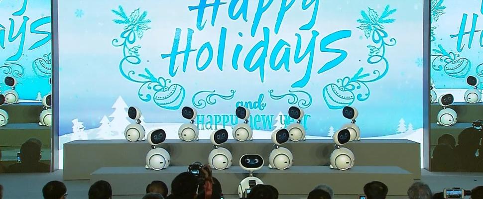 ASUS-robots zingen en dansen op kerstklassieker
