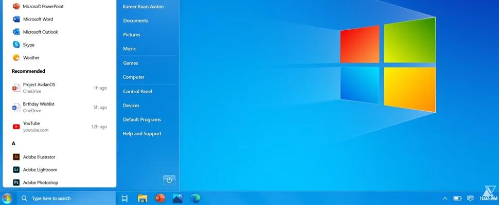 Grafisch ontwerper steekt Windows 7 in modern jasje