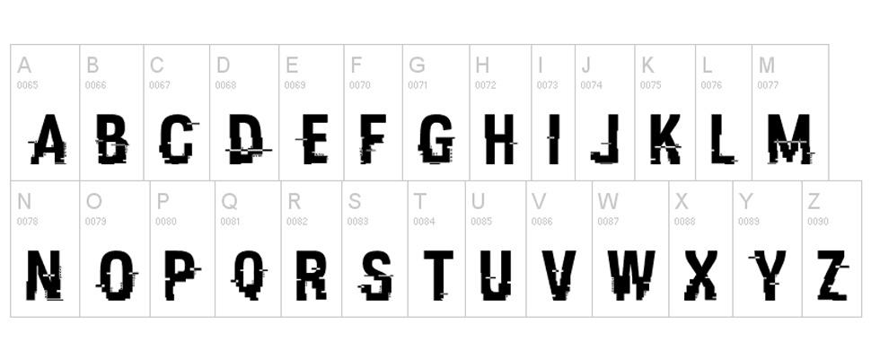 Grote hack op lettertypensite DaFont