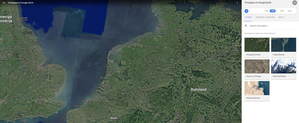 Google Earth: Timelapse van aarde met miljoenen satellietfoto's uitgebreid