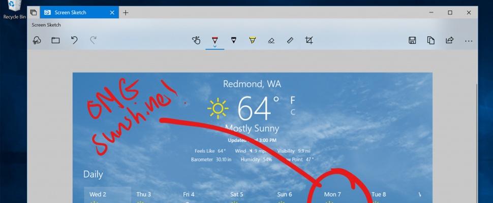 Printscreen-toets krijgt nieuwe functies in Windows 10