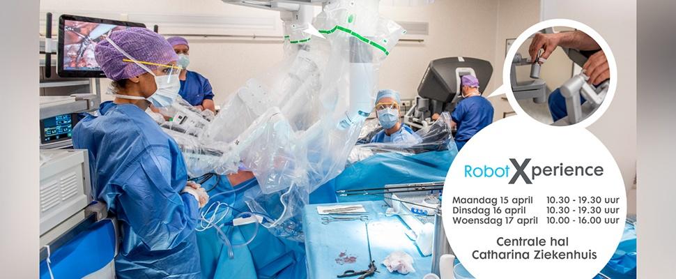 Probeer zelf de operatierobot uit in het Catharina Ziekenhuis