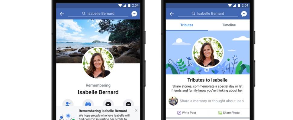 Condoleances voortaan in Eerbetonen-sectie Facebook
