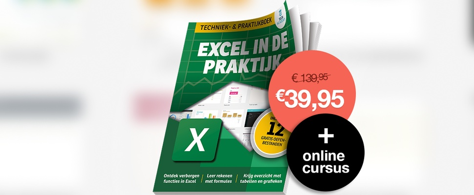 Werk wél soepel met Excel: boek + online cursus