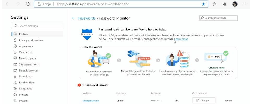 Edge-browser gaat waarschuwen bij gestolen wachtwoorden