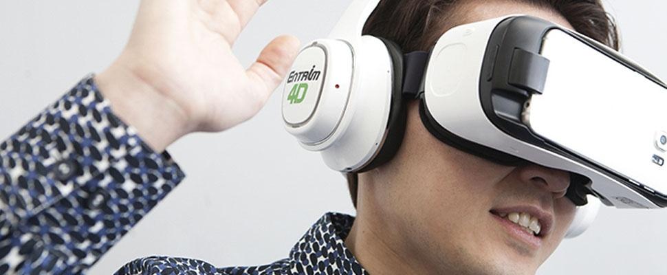 Entrim 4D-koptelefoon maakt virtual reality 'voelbaar'