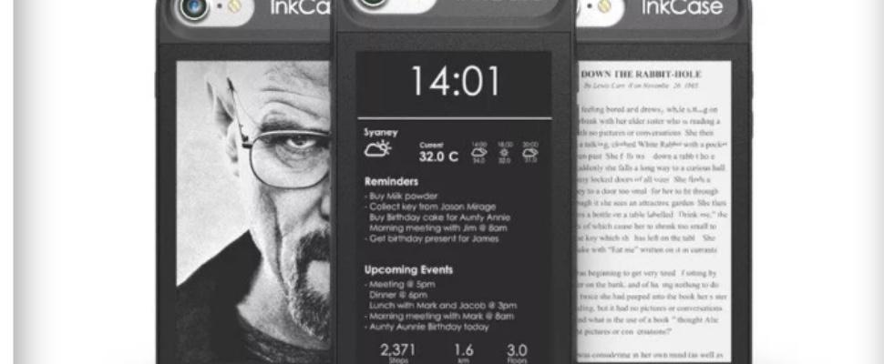 Hoesje voegt e-ink scherm toe aan iPhone 7
