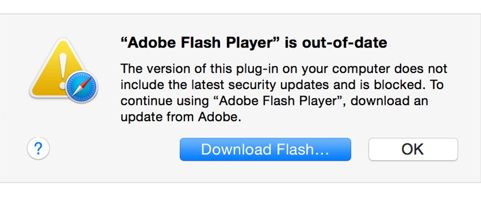 Apple blokkeert verouderde Flash in Safari