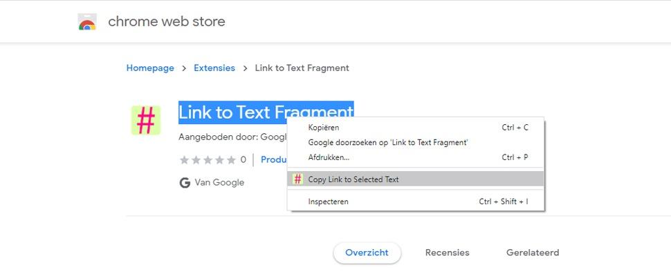 Chrome-extensie helpt bij delen specifieke website-passages