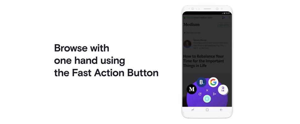 Opera Touch-browser met één hand te bedienen