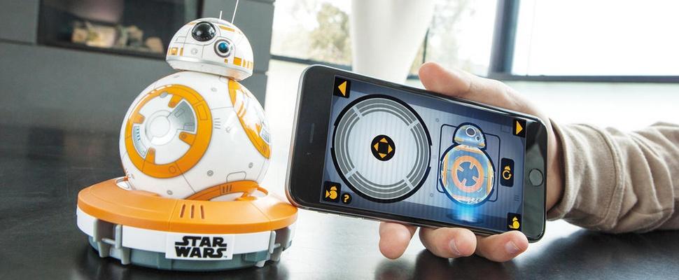 Rollende BB-8 droid uit Star Wars met app te besturen