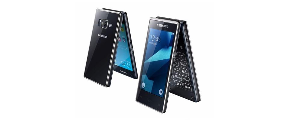 Dichtklaptelefoon van Samsung heeft twee schermen
