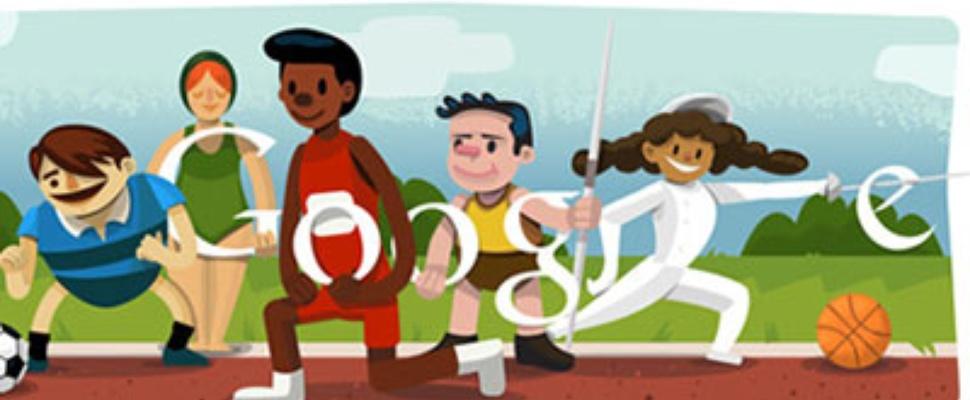 Olympische spelen 2012 openingsceremonie Google Doodle