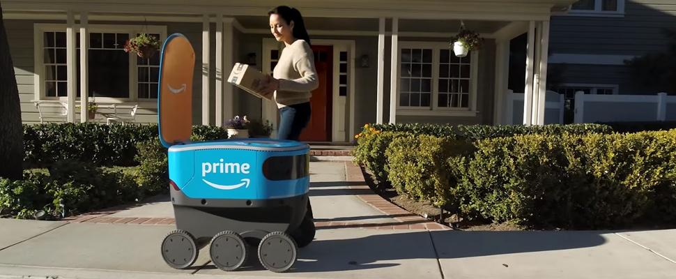 Amazon stuurt bezorgrobots de weg op