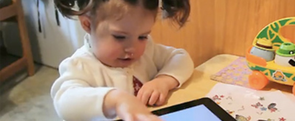 Amerikaanse kleuters aan de iPad 2