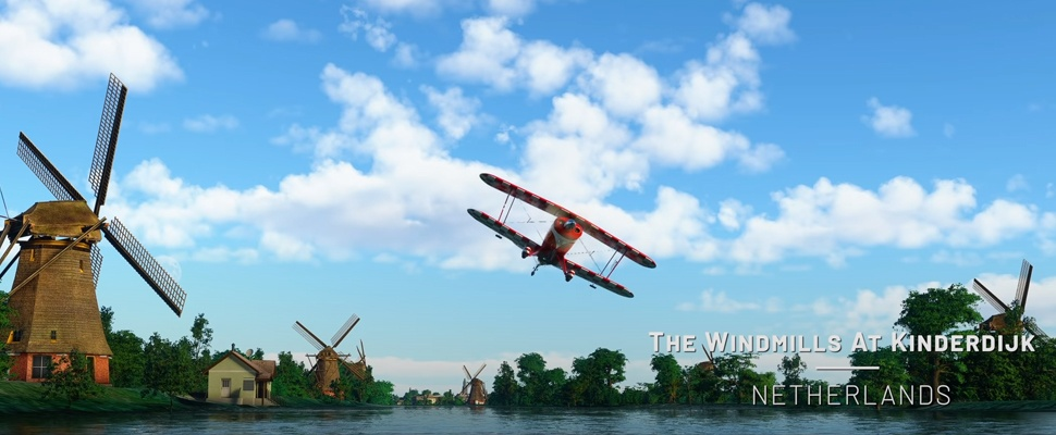Nederlandse hotspots vernieuwd in gratis Microsoft Flight Simulator-update