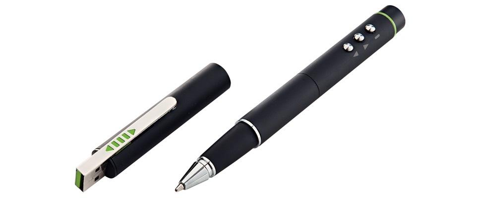 Leitz Stylus Pen combineert powerpointcontroller, laseraanwijzer, balpen en stylus