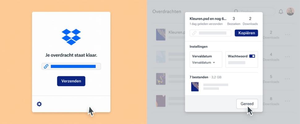 Dropbox Transfer biedt (duurder) WeTransfer-alternatief